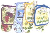 72 Units of 2 Piece Hot Pot Holder Kitchen Glove Mitten - Kitchen Towels