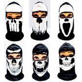 24 Units of Ninja Face Mask [Black & White Skulls] - Unisex Ski Masks