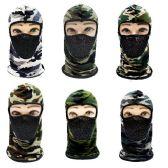24 Units of Ninja Face Mask [Camo with Mesh Front] - Unisex Ski Masks