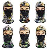 24 Units of Ninja Face Mask [Hardwood Camo with Mesh Front] - Unisex Ski Masks