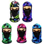 24 Units of Ninja Face Mask [Marijuana with Mesh Front] - Unisex Ski Masks