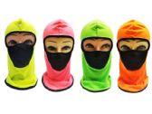 24 Units of Ninja Face Mask [Neon with Mesh Front] - Unisex Ski Masks