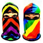 24 Units of Ninja Face Mask [Rainbow Assortment] - Unisex Ski Masks