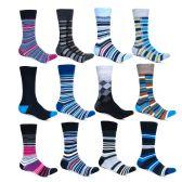 240 Units of Alberto Cardinali Mens Pattern Dress Socks - Mens Dress Sock
