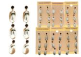 36 Units of Drop Dangle Earrings With Crystal Accents Silver Tone And Multi Color - Jewelry & Accessories