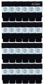 24 Units of Yacht & Smith Wholesale Bulk Womens Tube Socks, Cotton Sport Athletic Socks - Black - 24 Packs - Women's Tube Sock