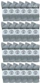24 Units of Yacht & Smith Wholesale Bulk Womens Crew Socks, Cotton Sport Athletic Socks - Gray - 24 Packs - Womens Crew Sock