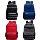 """24 Units of 19"""" Double Compartment Daisy Webbing Wholesale Backpacks in 4 Assorted - Backpacks 18"""" or Larger"""
