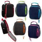 """24 Units of 10"""" Insulated Vertical Quilted Lunch Cooler in 5 Assorted Colors - Lunch Bags & Accessories"""