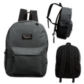 "24 Units of 17"" Wholesale Classic Charcoal Backpacks - Backpacks 17"""