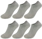 60 Units of Yacht & Smith Women's No-Show Ankle Socks Size 9-11 Gray - Womens Ankle Sock