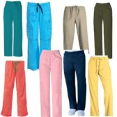 24 Units of Scrub Pants Assorted Colors - Nursing Scrubs