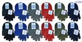 24 Units of Yacht & Smith Wholesale Kids Beanie and Glove Sets (Beanie Glove Set, 24) - Winter Care Sets