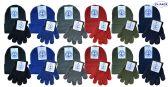 24 Units of Yacht & Smith Wholesale Kids Beanie and Glove Sets (Beanie Glove Set, 24) - Bundle Care sets