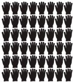 48 Units of Yacht & Smith Unisex Black Magic Gloves - Knitted Stretch Gloves
