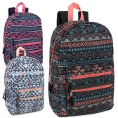 """24 Units of 18 Inch Graphic Backpack With Double Front Pocket - Girls - Backpacks 18"""" or Larger"""
