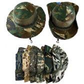 24 Units of Floppy Boonie Hat (Digital/Army Camo) Mesh Sides - Bucket Hats
