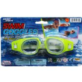 "96 Units of 6"" SWIMMING GOGGLES ON BLISTER CARD, 4 ASSRT CLRS - Summer Toys"