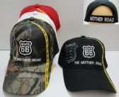 36 Units of Route 66 Hat - Baseball Caps & Snap Backs