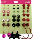 36 Units of Hypo allergenic earrings - Earrings
