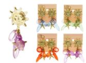 144 Units of Sun Star Dangle Earrings With Bead Accents Multi-Color And Gold Tone - Earrings