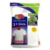24 Units of Fruit Of The Loom Mens 3 Pack White Crew Neck T Shirts, Size S - Mens T-Shirts