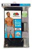 12 Units of Men's Fruit Of the Loom 6 Pack Boxer Brief (Mid Rise), Size Large - Mens Underwear