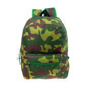 "24 Units of 17"" Kids Classic Padded Backpacks in CAMO Print - Backpacks 17"""