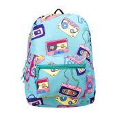 "24 Units of 17"" Kids Classic Padded Backpacks in CASSETTE Print - Backpacks 17"""