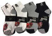 60 Units of Skull Printed Socks - Womens Ankle Sock