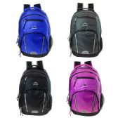 """24 Units of 19"""" Premium Backpack with Laptop Feature and Tech Pocket in 4 Assorted Colors - Backpacks 18"""" or Larger"""