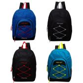 """24 Units of 18"""" Bulk Premium Bungee Sport Backpack in 4 Assorted Colors - Backpacks 18"""" or Larger"""