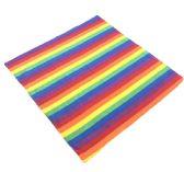 60 Units of Bandana-Rainbow Stripes - Bandanas