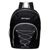 "24 Units of 17"" Classic Wholesale Bungee Backpacks in Black - Backpacks 17"""