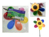72 Units of 11'' Round Sunflower Wind Spinner - Wind Spinners