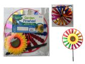 48 Units of 11.5'' Round Sunflower Wind Spinner - Wind Spinners