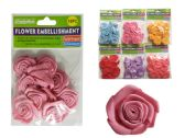 288 Units of 10 Piece Flower Embellishments - Arts & Crafts
