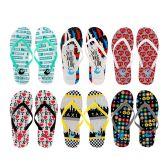 96 Units of Women's New York Printed Flip Flops - Women's Flip Flops