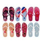 96 Units of Women's Printed Flip Flops - Women's Flip Flops