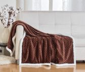 10 Units of BRAIDED 50 X 60 SHERPA THROW IN CHOCOLATE - Fleece & Sherpa Blankets