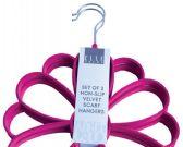 24 Units of Non Slip Velvet Scarf Hangers Assorted Colors - Hangers