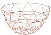 6 Units of Rose Gold Fruit Basket - Serving Trays