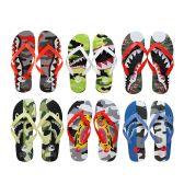 96 Units of Men's Printed Flip Flops - Men's Flip Flops and Sandals