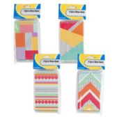 72 Units of 4 Pack Geometric Pattern Memo Books - Note Books & Writing Pads