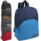 """24 Units of 15 Inch Promo Boys Backpack - Assorted Colors - Backpacks 15"""" or Less"""