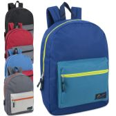 24 Units of Urban Sport 17 Inch Boys Color Block Backpack - Backpacks 17""