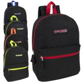 24 Units of Trailmaker 17 Inch Backpack - 5 Pop Colors - Backpacks 17""