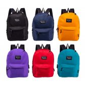 "24 Units of 17"" Bulk Backpacks in 8 to 12 Randomly Assorted Colors - Backpacks 17"""