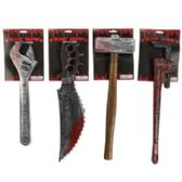 32 Units of 4 Assorted Bloody Costume Weapon Accessories - Costumes & Accessories