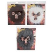 24 Units of Werewolf Facial Hair in 3 assorted Colors - Costumes & Accessories